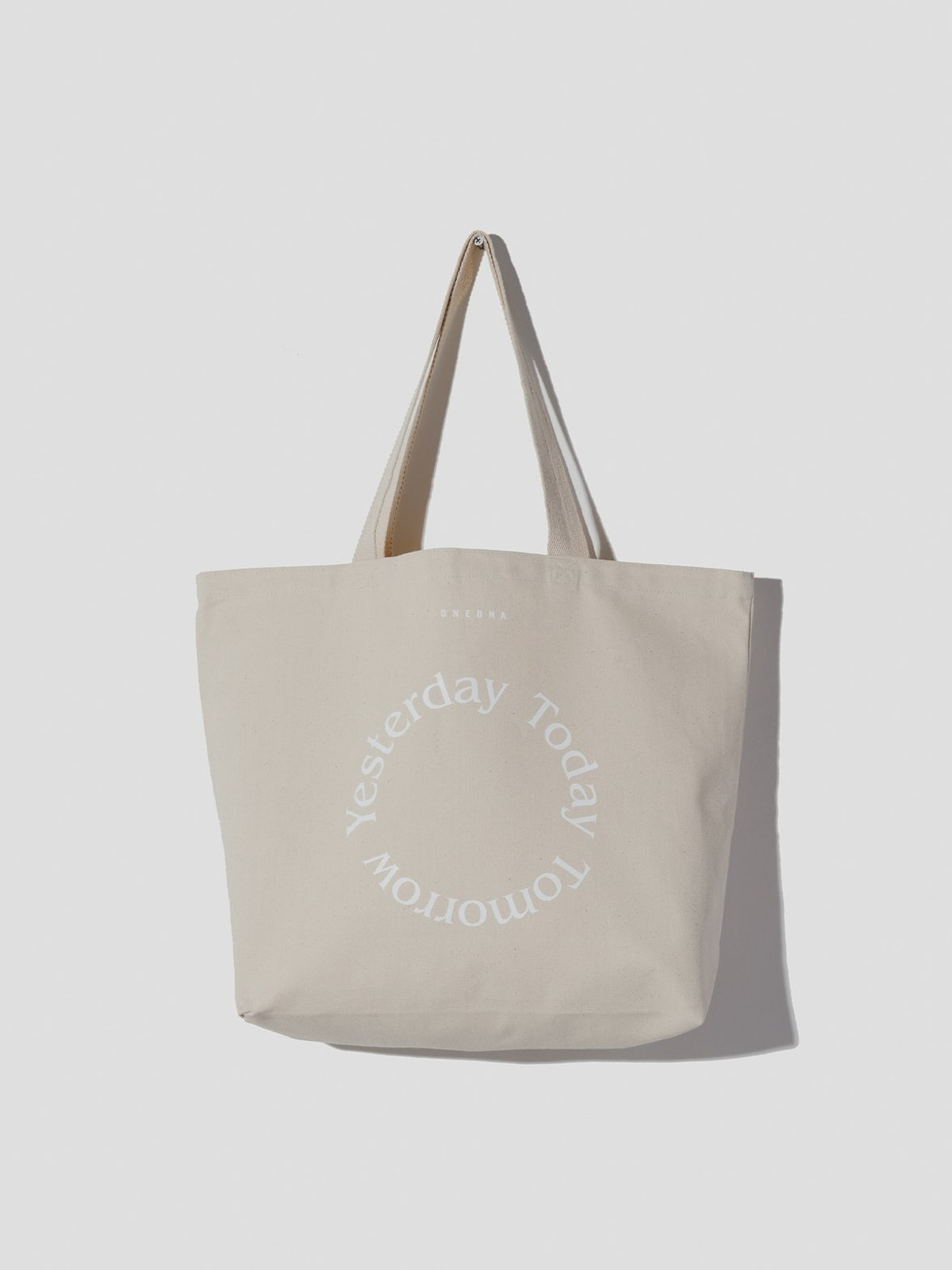 Yesterday Today Tomorrow Tote Bag, Natural Canvas