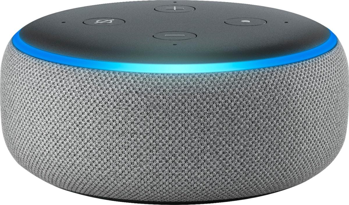 Amazon Echo Dot (3rd Gen) Smart Speaker, Heather Gray