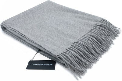 State Cashmere 100% Pure Cashmere Throw Blanket