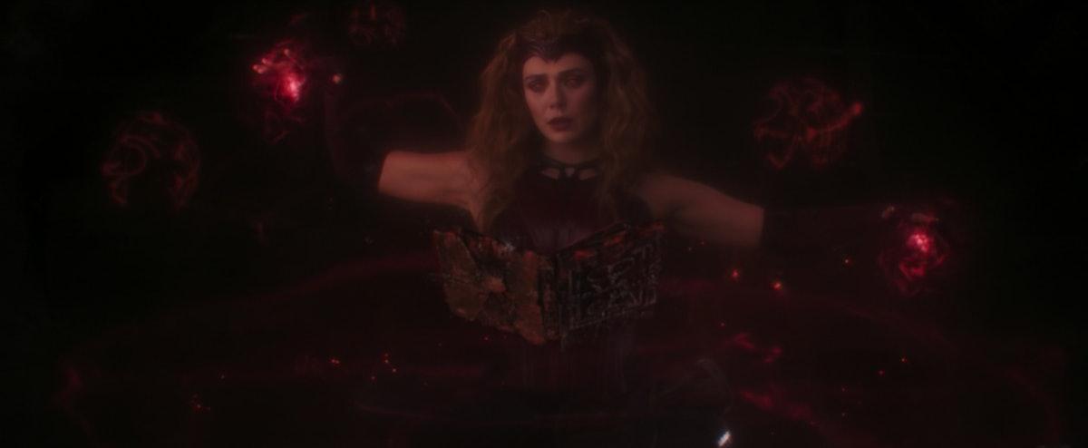 Elizabeth Olsen as Wanda Maximoff/Scarlet Witch in WandaVision.
