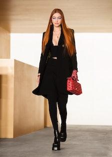 Gigi Hadid as a redhead at Versace