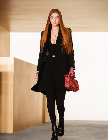 Gigi Hadid as a redhead at Versace