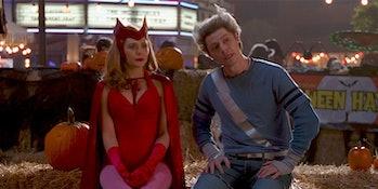 Elizabeth Olsen and Evan Peters in WandaVision Episode 6