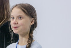 Greta thunberg at the Climate Summit COP25 press conference in Spain