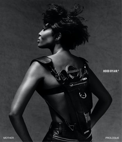 Naomi Campbell stars in HOOD BY AIR Prologue era 2021 campaign.