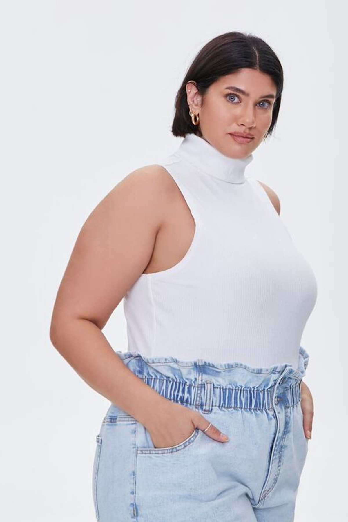 Forever 21 Plus Size Ribbed Turtleneck Top