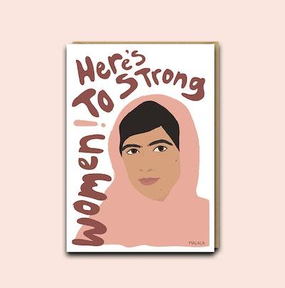 Strong Women Card - Malala