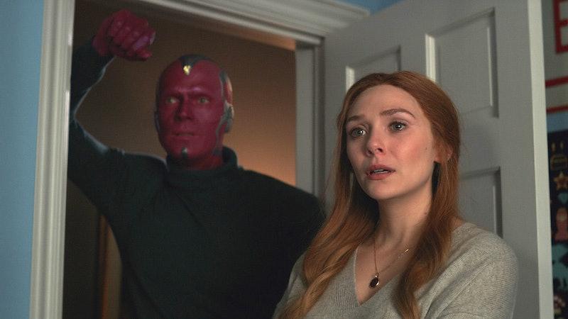Elizabeth Olsen as Wanda in Wandavision.