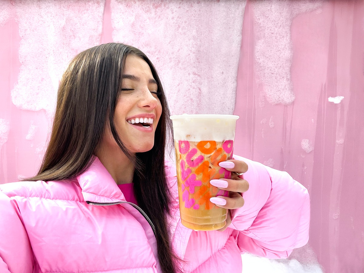 Dunkin's Sweet Cold Foam on the The Charli Cold Foam gives the sip a super sweet taste.