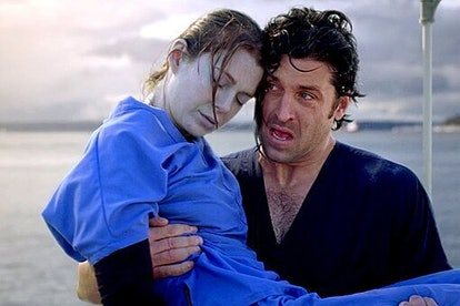 Dereth rescues Meredith from the water on 'Grey's Anatomy.' Photo via ABC