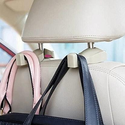 IPELY Car Headrest Bag Hooks (2-Pack)