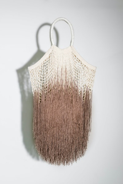 Ombre-Tan Large Fringe Tote