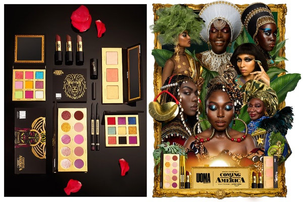 """The press images of the UOMA Beauty collaboration with """"Coming 2 America."""""""