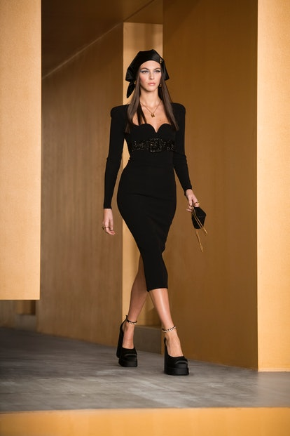 Versace's Fall/Winter 2021 collection was a celebration of all things sexy and colorful.