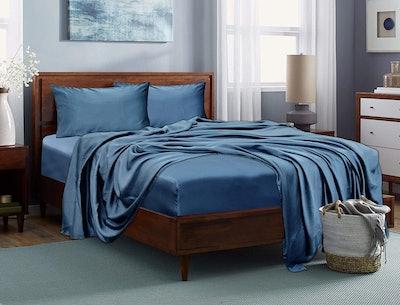 LINENWALAS 100% Tencel Bed Sheet Set