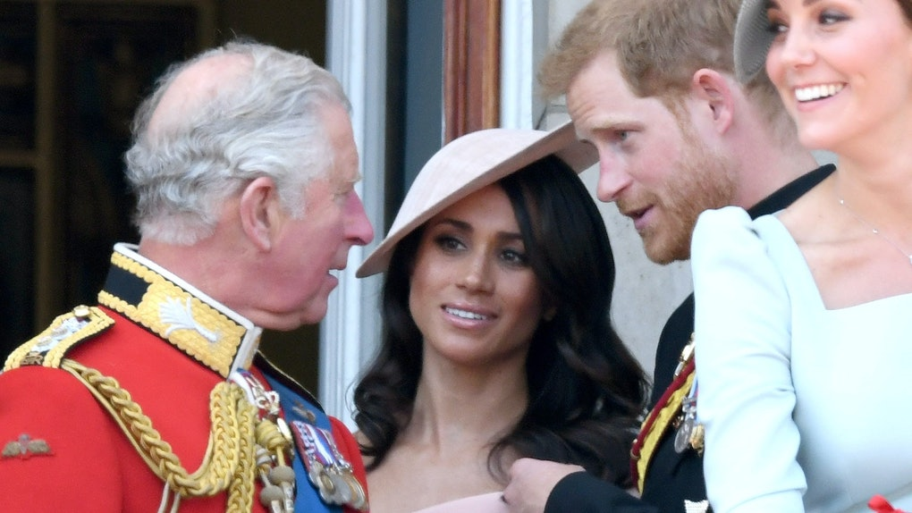 Prince Charles with Meghan Markle and Prince Harry