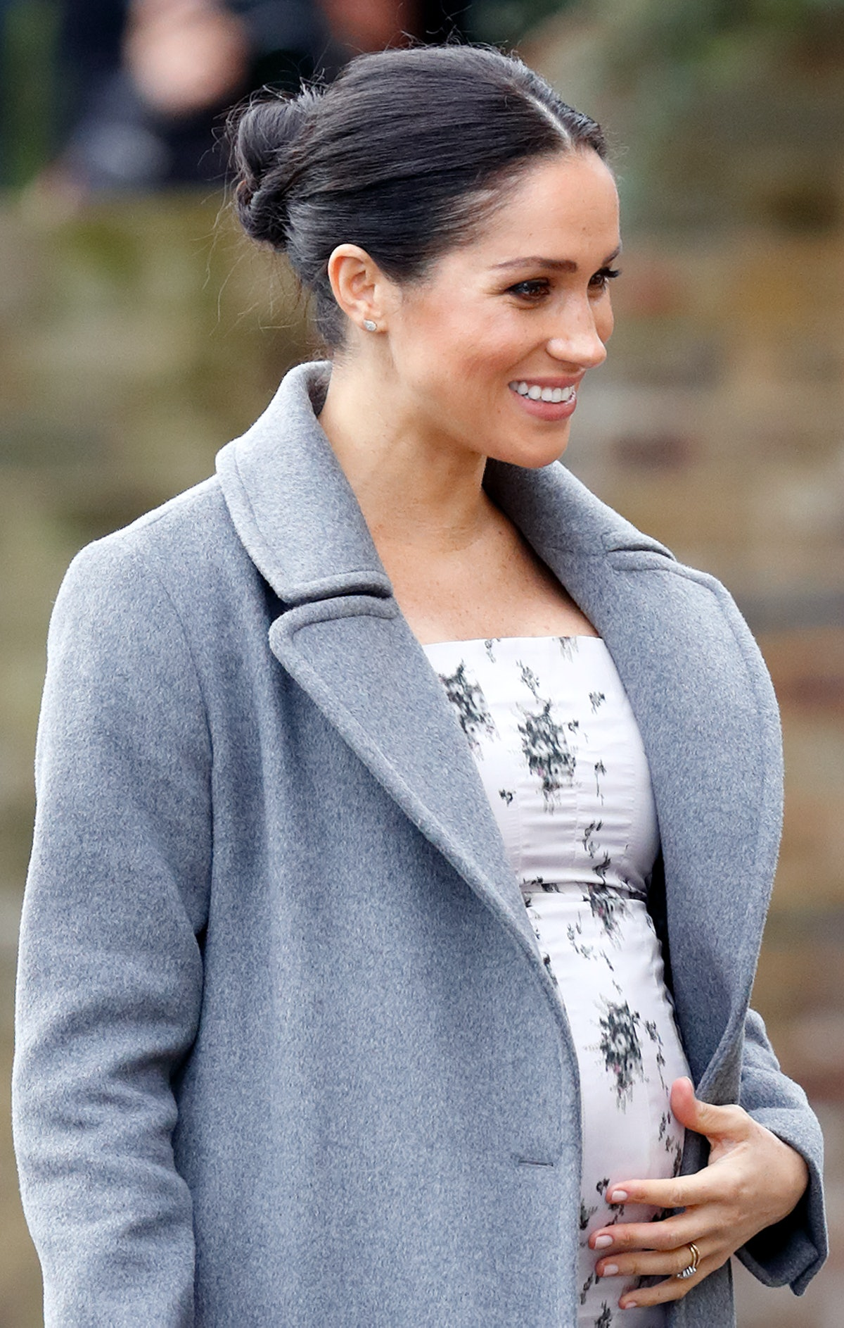 Meghan, Duchess of Sussex visits the Royal Variety Charity's Brinsworth House on December 18, 2018 i...
