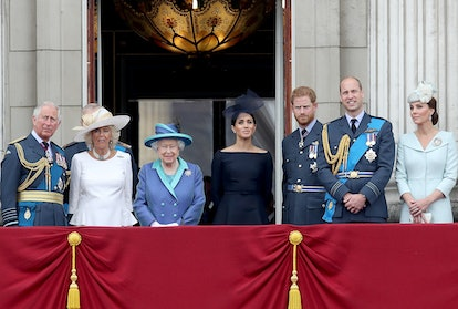 The royals on a balcony