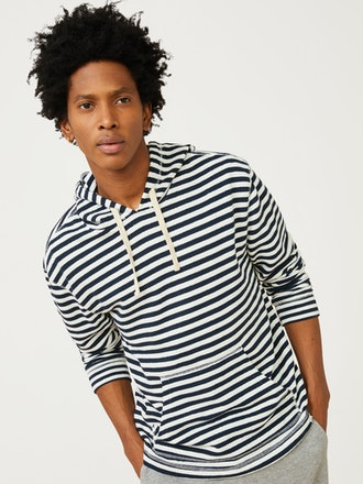 Men's Long Sleeve Stripe Hoodie