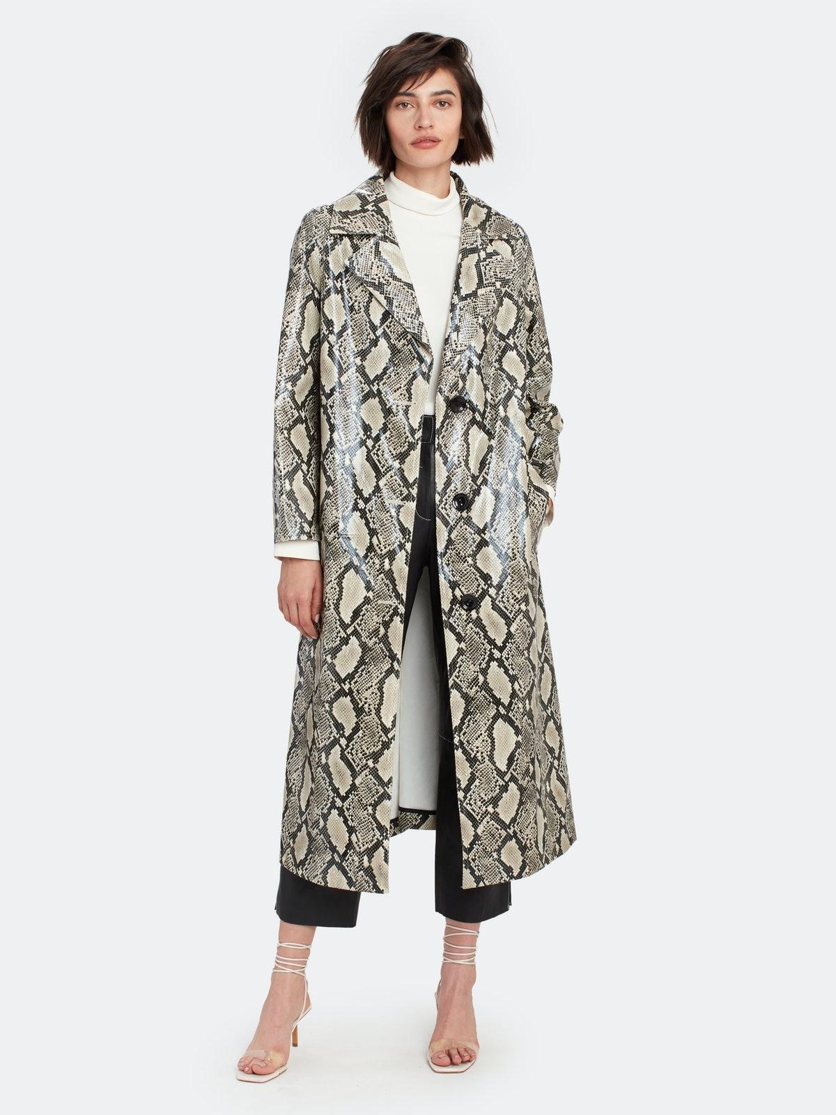 Mollie Snake Print Coat
