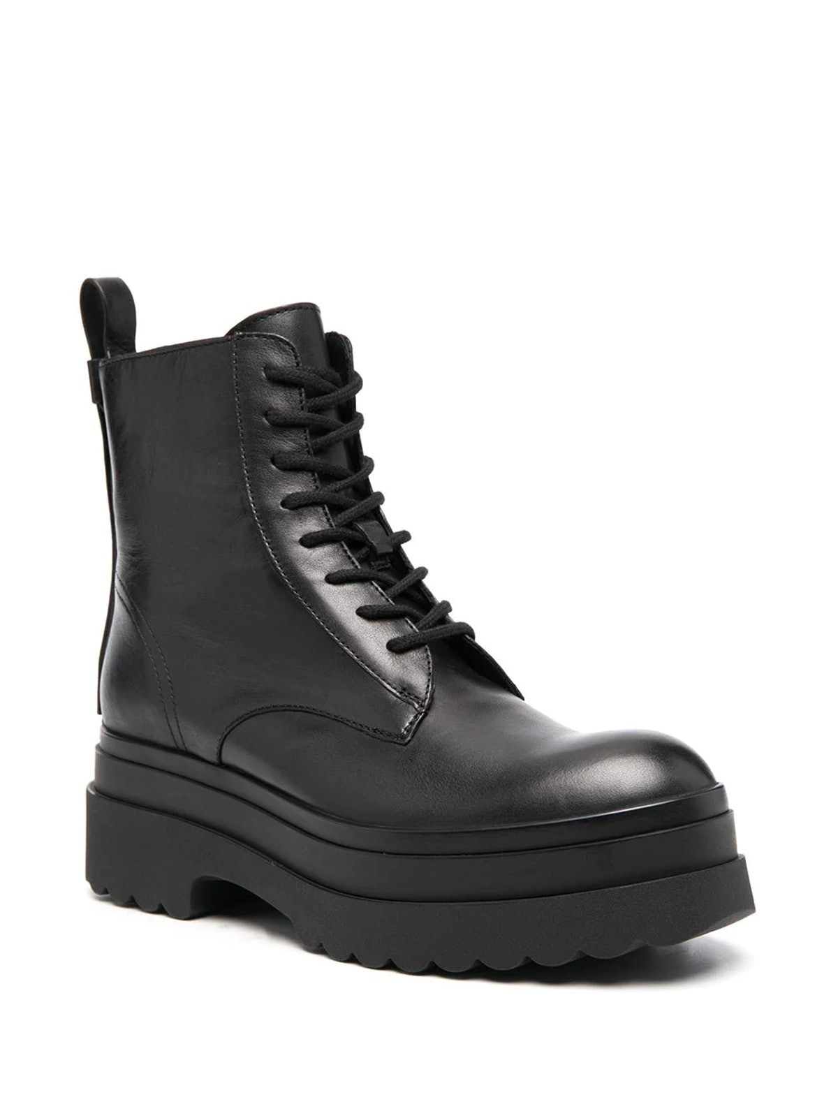 Lyered combat boots