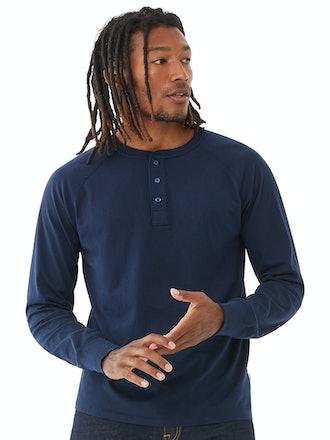 Men's Everyday Long-Sleeve Henley Shirt