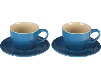 Cappuccino Cups and Saucers, Set of 2
