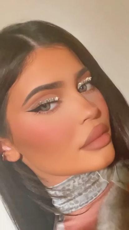 Kylie Jenner rhinestone eyeliner