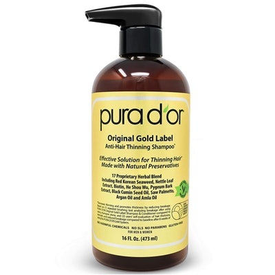 PURA D'OR Original Gold Label Anti-Thinning Shampoo, 16 Oz.