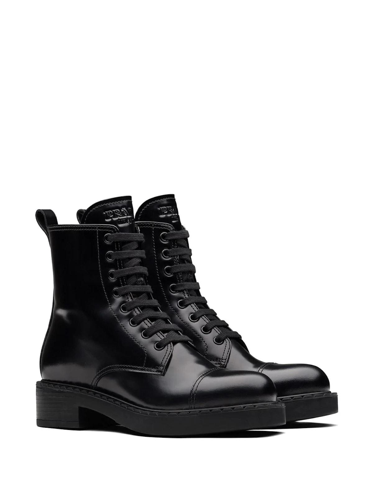 Block Heel Combat Boots