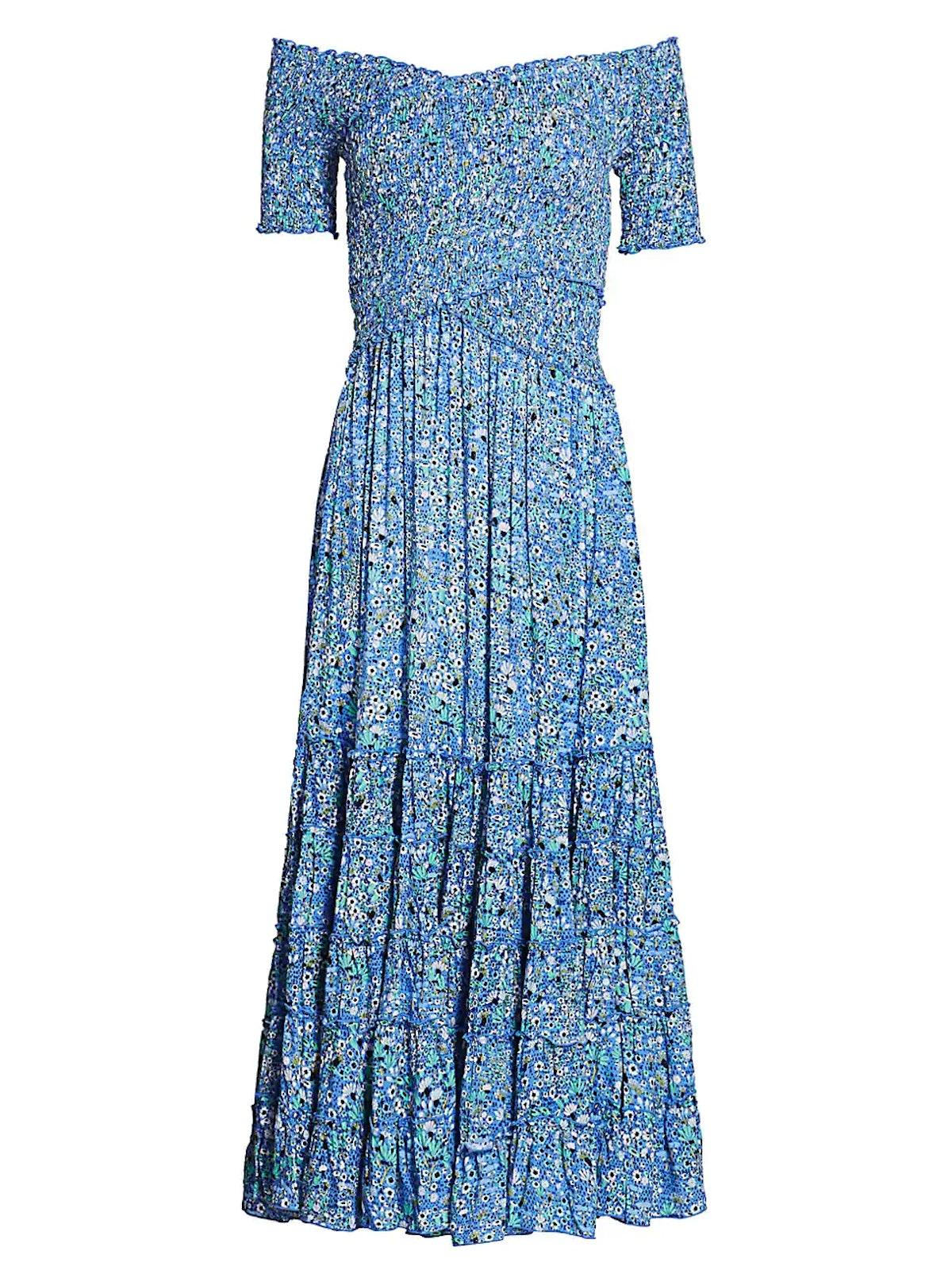 Soledad Off-The-Shoulder Floral Midi Dress