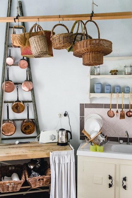kitchen interior French girl decor