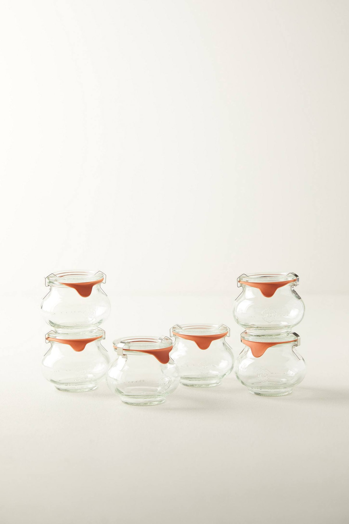 7.4 oz Deco Weck Jar Set