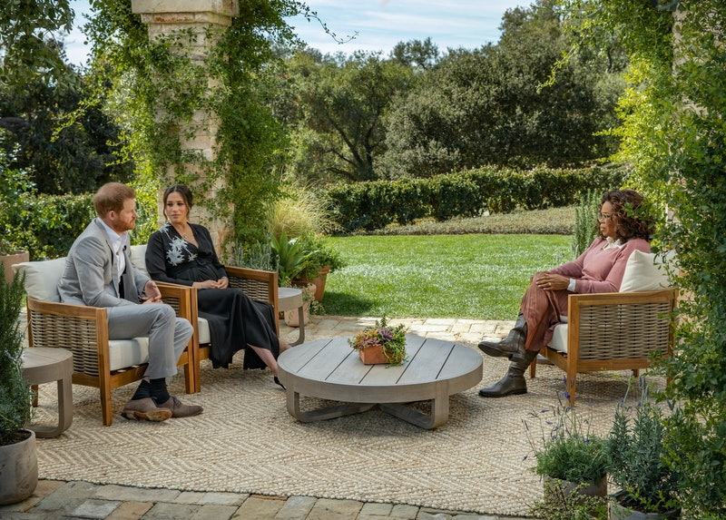 Prince Harry & Meghan Markle during their talk with Oprah Winfrey.