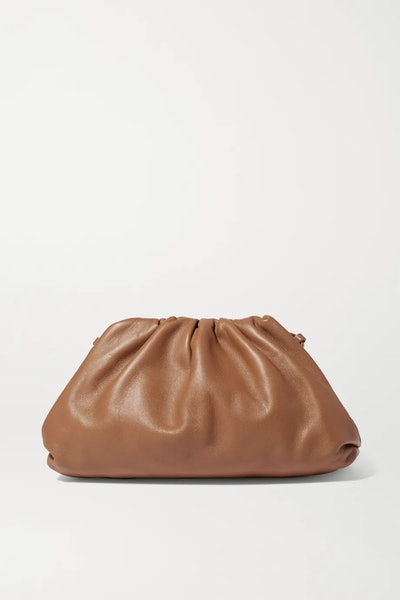 The Pouch Small Gathered Leather Clutch