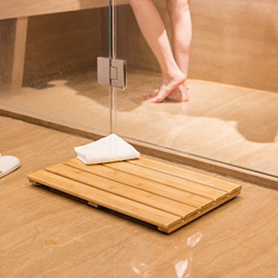 GOBAM Bamboo Shower Mat