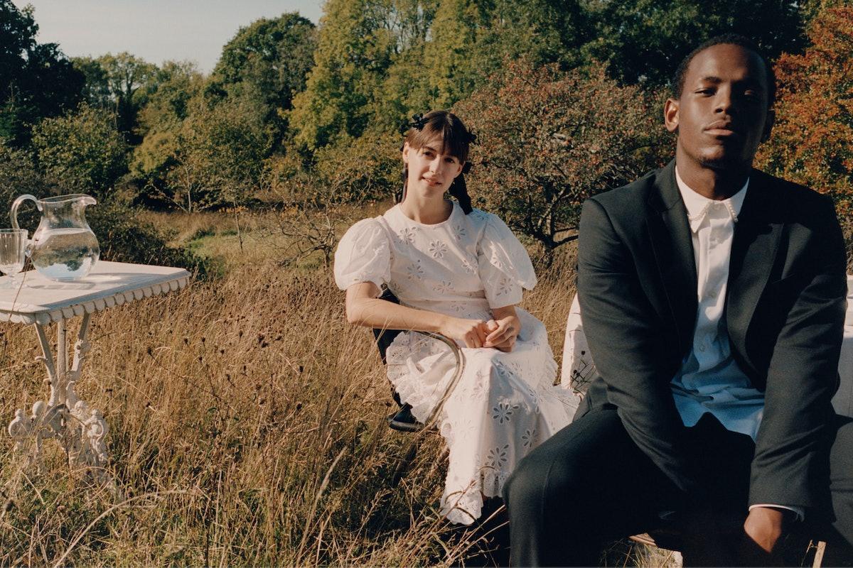 Daisy Edgar-Jones and Michael Ward in a Simone Rocha campaign