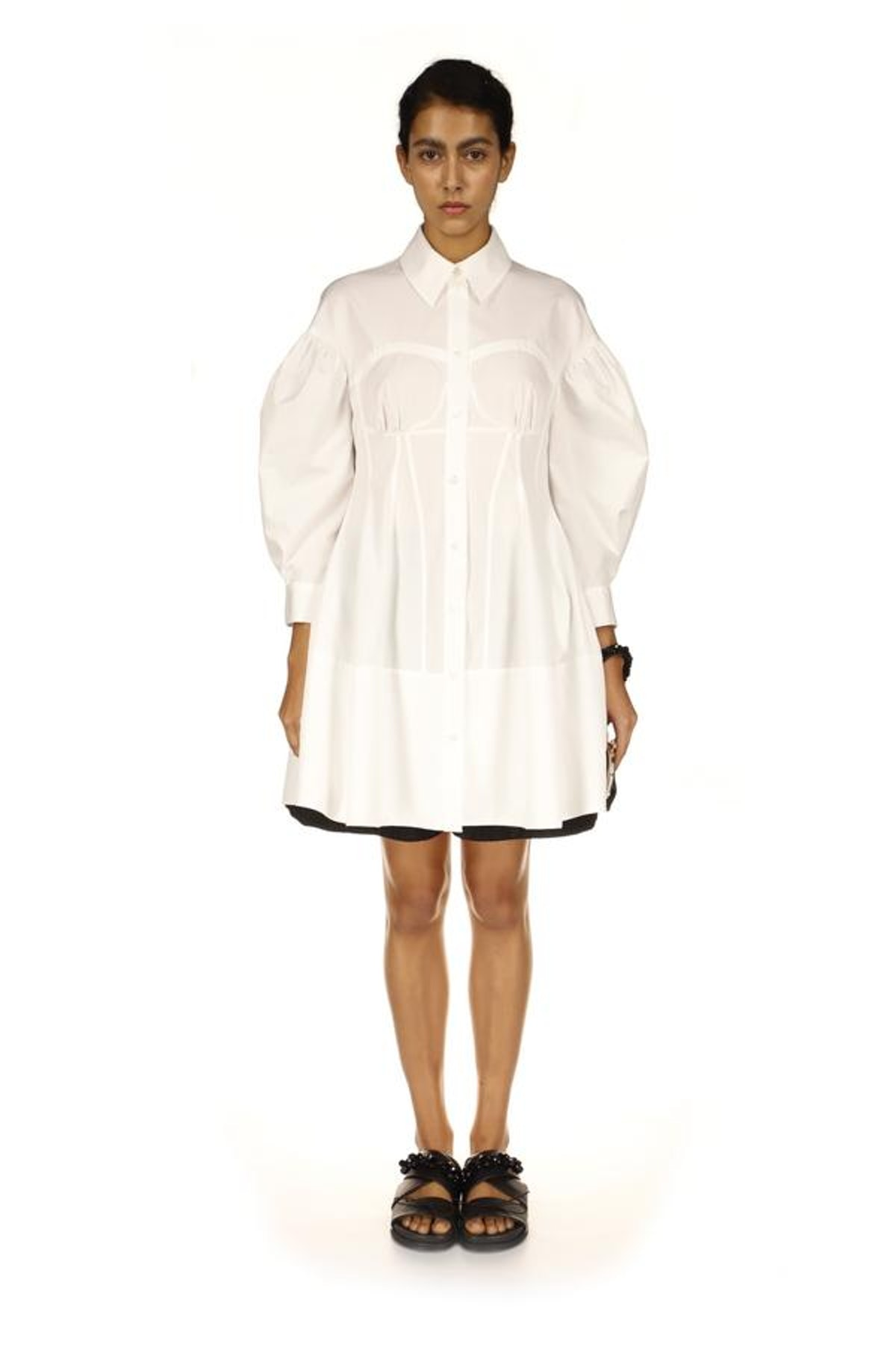 Corset Detailed Shirt Dress