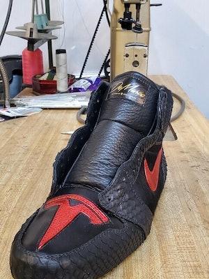 Elon Musk Tesla Jordan sneakers DeMarco Footwear.