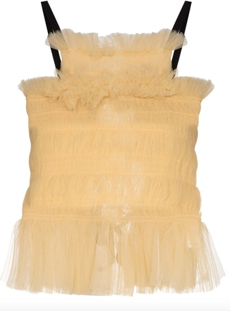 Back Tie Tulle Top
