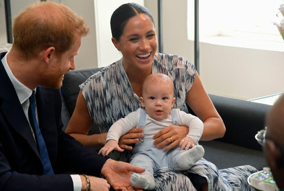 Meghan and Harry with baby Archie.
