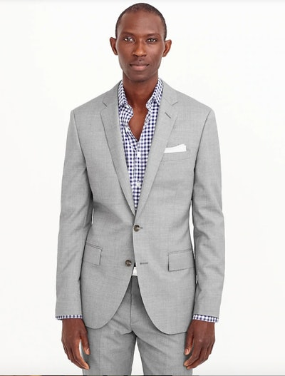 Ludlow Slim-fit suit jacket with double vent in Italian wool