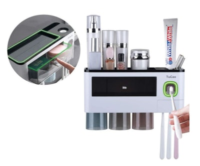 TuCao Automatic Toothpaste Dispenser & Toothbrush Holder