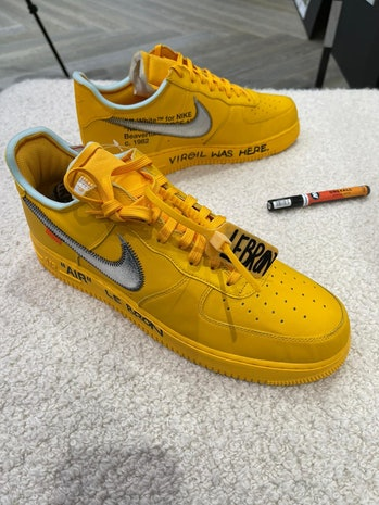 Off-White Nike Air Force 1 Yellow LeBron James