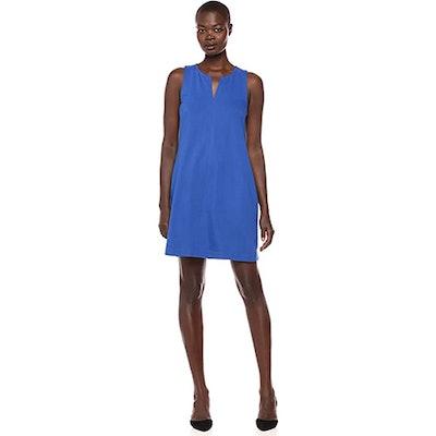 Lark & Ro Sleeveless Split Neck Shift Dress
