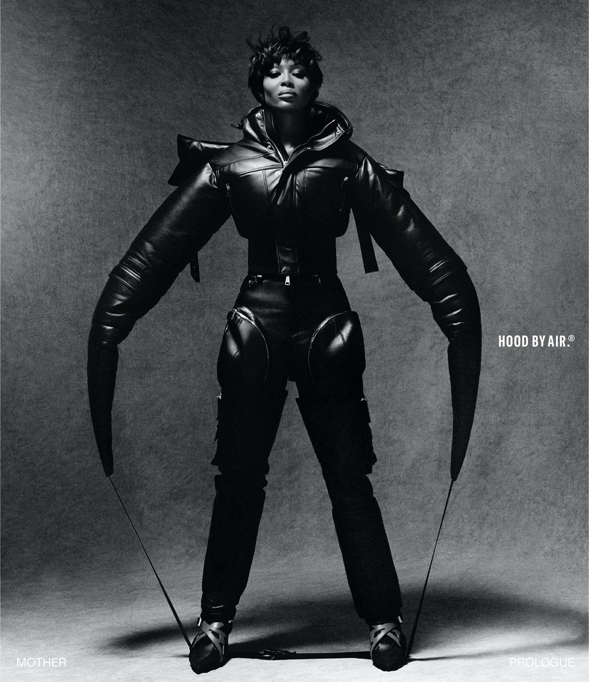 Naomi Campbell in a Hood by Air campaign