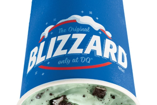Dairy Queen's St. Patrick's Day 2021 Blizzard is a festive mint and Oreo combo.