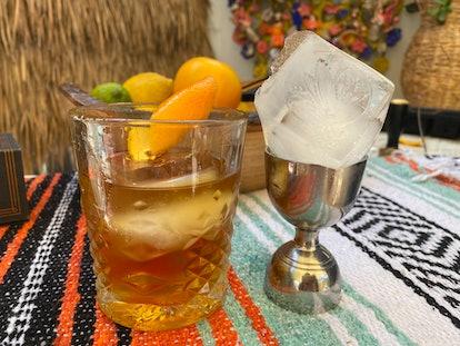 Grace Mahary Mezcal  Negroni cocktail