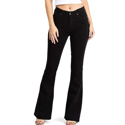 Celebrity Pink High-Waisted Flared Bell-Bottom Jeans