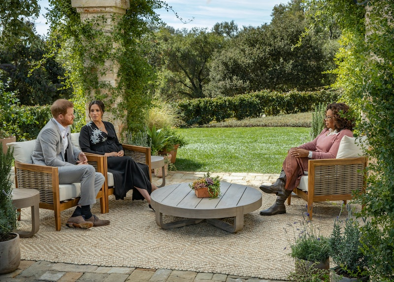 Meghan Markle & Prince Harry during their Oprah interview